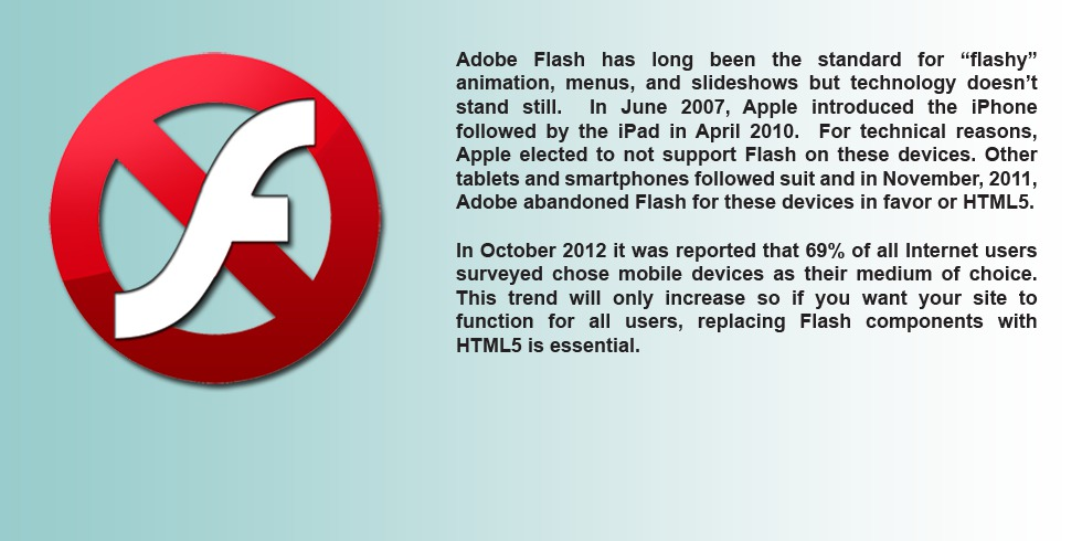 Replace Adobe Flash with HTML5